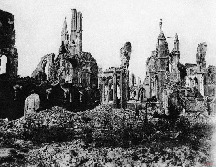 WWI Belgium, destruction, Ypres
