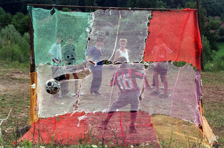 BOSNIAN CHILDREN PLAY SOCCER