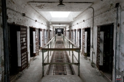 This Oct. 13, 2014, photo shows cellblock 12 at Eastern State Penitentiary in Philadelphia. The penitentiary took in its first inmate in 1829, closed in 1971 and reopened as a museum in 1994. (AP Photo/Matt Rourke)