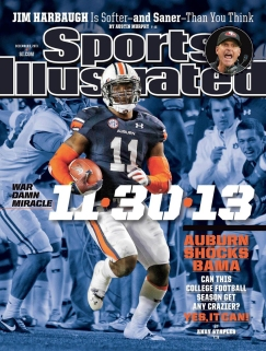 Cover of Sports Illustrated with photo by Dave Martin.