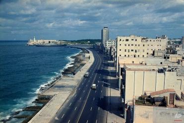 This is a general view of El Malecon in Havana, Cuba, seen Nov. 1971. (AP Photo/Beverley Reed)