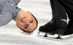 Maylin Wende and Daniel Wende of Germany compete in the team pairs short program figure skating competition at the Iceberg Skating Palace during the 2014 Winter Olympics, Thursday, Feb. 6, 2014, in Sochi, Russia. (AP Photo/Ivan Sekretarev)