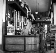 This is the interior of a typical Cuban bodega, which is a combination grocery store and bar, shown April 9, 1960. (AP Photo)