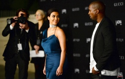 Kim Kardashian, left, and Kanye West arrive at the LACMA Art + Film Gala at LACMA on Saturday, Nov. 1, 2014, in Los Angeles. (Photo by Jordan Strauss/Invision/AP)