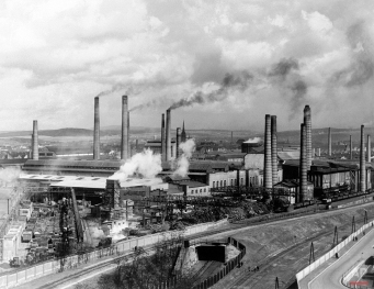 In this Aug. 29, 1938 photo, smoke rises from smokestacks at Skoda's main foundry in Pilsen, Czechoslovakia. A new study looking at 11,000 years of climate temperatures shows the world in the middle of a dramatic U-turn, lurching from near-record cooling to a heat spike. It shows how the globe for several thousands of years was cooling until an unprecedented reversal in the 20th century, which scientists say is further evidence that global warming isn't natural but man-made since the start of the Industrial Revolution. (AP Photo)