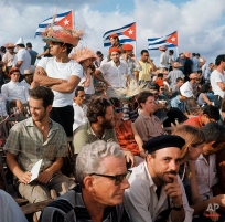 Baseball fans at Havana's stadium for a game on July 26, 1964 in Cuba. (AP Photo)