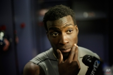 Mississippi defensive back Senquez Golson speaks during an interview after the Peach Bowl NCAA football game between TCU and Mississippi, Wednesday, Dec. 31, 2014, in Atlanta. TCU won 42-3. (AP Photo/David Goldman)