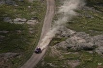 Mini driver Orlando Terranova and co-pilot Bernardo Graue, both of Argentina, race during the second stage of the Dakar Rally 2015 between the cities of Villa Carlos Paz and San Juan, Argentina, Monday, Jan. 5, 2015. The race will finish on Jan. 17, passing through Bolivia and Chile and returning to Argentina. (AP Photo/Felipe Dana)