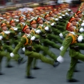 """Military personnel take part in a parade celebrating the 40th anniversary of the end of the Vietnam War which is also remembered as the """"Fall of Saigon,"""" in Ho Chi Minh City, Vietnam, Thursday, April 30, 2015. The city once known as Saigon was festooned in red banners on Thursday that read """"Long Live the Glorious Party of Vietnam,"""" 40 years after communist forces seized control of the country and America walked away from a divisive and bloody war that remains a painful sore. (AP Photo/Dita Alangkara)"""