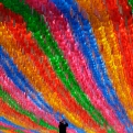 A worker attaches the name tag of a Buddhist worshipper who made donation to a lantern, for upcoming celebration of Buddha's birthday on May 25 at the Jogye temple in Seoul, South Korea, Thursday, April 2, 2015. (AP Photo/Lee Jin-man)