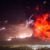 The Calbuco volcano erupts near Puerto Varas, Chile, Thursday, April 23, 2015. The volcano erupted Wednesday for the first time in more than 42 years, billowing a huge ash cloud over a sparsely populated, mountainous area in southern Chile, and is considered one of the top three most potentially dangerous among Chile's 90 active volcanos. (AP Photo/David Cortes Serey/ Agencia Uno)