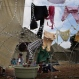 A woman washes clothes at a shelter for victims of immigrant attacks in Johannesburg, Wednesday, April 22, 2015. No new incidents of violence targeting foreigners were reported overnight in Johannesburg or in the coastal city of Durban, where the attacks began, police said. (AP Photo/Denis Farrell)