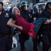 A man is carried by police officers as arrests are made at Union Square, Wednesday, April 29, 2015, in New York. People gathered to protest the death of Freddie Gray, a Baltimore man who was critically injured in police custody. (AP Photo/Craig Ruttle)