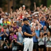 Jordan Spieth celebrates after winning the Masters golf tournament Sunday, April 12, 2015, in Augusta, Ga. (AP Photo/Matt Slocum)
