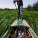 In this April 12, 2015 photo, Sayed Ahmed Abdoh poles his boat to check his fish traps in the Nile River, near Abu al-Nasr village, about 770 kilometers (480 miles) south of Cairo, Egypt. (AP Photo/Hiro Komae)