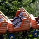 Novice monks observing Buddha's upcoming 2,559th birthday ride a roller coaster during a visit to the Everland amusement park in Yongin, South Korea, Thursday, May 21, 2015. (AP Photo/Lee Jin-man)