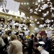 Members of the Missouri House of Representatives throw papers in the air at the conclusion of the legislative session Friday, May 15, 2015, at the capitol in Jefferson City, Mo. (AP Photo/Jeff Roberson)