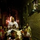 An Egyptian dawn awakener or 'Mesaharati' beats on his drum as he rides his donkey to wake up Muslims for a meal before sunrise during the holy month of Ramadan, in Cairo, Egypt, Monday, June 22, 2015. Ramadan is a Muslim holy month of fasting in which Muslims abstain from food, drink and other pleasures from sunrise to sunset. (AP Photo/Mohammed Abu Zaid)