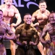 Bodybuilders compete during a bodybuilding contest organized by the Myanmar Bodybuilder Federation at the Myanmar Convention Center (MCC) Saturday, June 27, 2015, in Yangon, Myanmar. (AP Photo/Khin Maung Win)