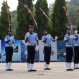 Members of the Indian Air Force (IAF) air warriors' team perform during the graduation ceremony of its newly inducted officers in Bangalore, India, Friday, June 5, 2015. A total of 141 officers including 50 women joined the ranks of the IAF Friday after seventy-four weeks of training. (AP Photo/Aijaz Rahi)