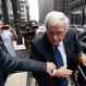 Former House Speaker Dennis Hastert arrives at the federal courthouse, Tuesday, June 9, 2015, in Chicago for his arraignment on federal charges that he broke federal banking laws and lied about the money when questioned by the FBI. (AP Photo/Paul Beaty)