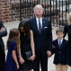 Vice President Joe Biden, center, pauses alongside his family as they to enter a visitation for his son, former Delaware Attorney General Beau Biden, Thursday, June 4, 2015, at Legislative Hall in Dover, Del. Standing with Biden are his son Hunter, from left, granddaughter Natalie, daughter-in-law Hallie, grandson Hunter and wife Jill. Beau Biden died of brain cancer at age 46. (AP Photo/Patrick Semansky, Pool)