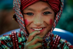 A Nepalese boy gets ready to perform a stick dance during a rally held to pay tribute to the victims of an earthquake, in Bhaktapur, Nepal, Wednesday, Sept 2, 2015. Two powerful earthquakes in April and May devastated the Himalayan nation killing more than 8,800 people. (AP Photo/Niranjan Shrestha)