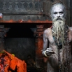 A Naga sadhu, or naked Hindu holy man, poses for a picture after taking a holy dip in the Godavari River during Kumbh Mela, or Pitcher Festival, at Trimbakeshwar in Nasik, India, Sunday, Sept. 13, 2015. Hindus believe taking a dip in the waters of a holy river during the festival, will cleanse them of their sins. According to Hindu mythology, the Kumbh Mela celebrates the victory of gods over demons in a furious battle over a nectar that would give them immortality. (AP Photo/Rafiq Maqbool)