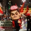 Demonstrators march carrying a large doll in the likeness of Brazil's President Dilma Rousseff during a anti-government protest against corruption in Sao Paulo, Brazil, Friday, Sept. 18, 2015. (AP Photo/Andre Penner)