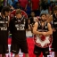 Argentina's players stand during the trophy ceremony after loosing against Venezuela at the FIBA Americas Championship final, in Mexico City, Saturday, Sept. 12, 2015. (AP Photo/Eduardo Verdugo)