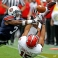 Auburn defensive back Jonathan Jones (3) breaks up a pass intended for Jacksonville State wide receiver Ruben Gonzalez (15) during the second half of an NCAA college football game, Saturday, Sept. 12, 2015, in Auburn, Ala. (AP Photo/Butch Dill)