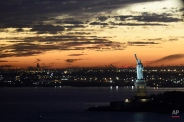 A view of the Statue of Liberty as seen from the air near New York City, Monday, Nov. 2, 2015. (AP Photo/Susan Walsh)