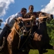 """Riders compete in """"sortija"""" in La Sierra neighborhood at La Palma, Pinar del Rio, Cuba, Saturday, Oct. 3, 2015. Rural traditional games are organized in areas where the peculiarity is music and singing, tournaments and sports competitions, skills with horses, rings, greased pole, among others. (AP Photo/Ramon Espinosa)"""
