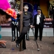 """A woman wearing a """"calaca,"""" or skeleton costume poses for photos as she commemorates Day of the Dead in the Coyoacan neighborhood of Mexico City, Saturday, Oct. 31, 2015. Residents celebrate Day of the Dead to honor the deceased, a tradition which coincides with All Saints Day and All Souls Day celebrated on Nov. 1 and 2. (AP Photo/Esteban Felix)"""