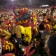 Southern California linebacker Jabari Ruffin, center, celebrates with his team after they defeated Utah in an NCAA college football game, Saturday, Oct. 24, 2015, in Los Angeles. Southern California won 42-24. (AP Photo/Mark J. Terrill)