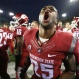 Washington State defensive back Skyler Cracraft (25) yells after an NCAA college football game against Oregon, Saturday, Oct. 10, 2015, in Eugene, Ore. Washington State won 45-38 in overtime. (AP Photo/Ryan Kang)