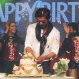 Bollywood superstar Shah Rukh Khan cuts a cake during a press conference on his birthday in Mumbai, India, Monday, Nov. 2,2015. (AP Photo/Rafiq Maqbool)