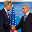 U.S. Secretary of State John Kerry, left, shakes hands with Israeli Prime Minister Benjamin Netanyahu before their meeting at the Prime Minister's Office in Jerusalem, Tuesday, Nov. 24, 2015. (AP Photo/Jacquelyn Martin, Pool)