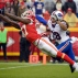 Kansas City Chiefs wide receiver Chris Conley (17) leaps but cannot reach a pass with Buffalo Bills cornerback Ronald Darby (28) behind him during the second half of an NFL football game in Kansas City, Mo., Sunday, Nov. 29, 2015. (AP Photo/Ed Zurga)