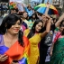 India's Lesbian, Gay, Bisexual and Transgender (LGBT) rights activists dance as they participate in the Rainbow Pride Walk in Kolkata, India, Sunday, Dec. 13, 2015. Over the past decade, homosexuals have gained a degree of acceptance in parts of deeply conservative India, especially in big cities. (AP Photo/Bikas Das)