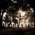 People exercise as the sun rises in Kandawgyi park in Yangon, Myanmar, Wednesday, Dec. 16, 2015. The 150-acre Kandawgyi lake surrounded by a 110-acre park is a major recreation area for Yangon residence during the dry and relatively cool months of December to February. (AP Photo/Gemunu Amarasinghe)
