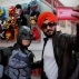 An Indian man, right, takes a selfie with a Batman fan at Delhi Comic Con in New Delhi, India, Saturday, Dec. 5, 2015. Die-hard fans came dressed as their favorite comic characters. Others crowded the more than 200 stalls selling comic books, graphic novels and merchandise on cartoon characters. (AP Photo/Altaf Qadri)
