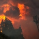 Firefighters work to douse the flames at the Portuguese Language Museum in Sao Paulo, Dec. 21, 2015. The fire department said they lost one firefighter to the blaze. (AP Photo/Andre Penner)
