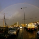 A rainbow appears after a heavy rain in the southern port city of Sidon, Lebanon, Wednesday, Dec. 30, 2015. (AP Photo/Mohammed Zaatari)