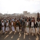 Shiite tribesmen, known as Houthis, attend a tribal gathering showing support for the Houthi movement in Sanaa, Yemen, Tuesday, Dec. 15, 2015 . A tenuous ceasefire is holding in Yemen despite some violations, as U.N.-brokered peace talks between the country's U.S. and Saudi-backed internationally recognized government and Shiite rebels start in Switzerland. But with both camps' positions unchanged and little sign either is ready for compromise, observers are not expecting much. (AP Photo/Hani Mohammed)