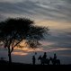 Pakistani laborers are silhouetted against the last sunset of 2015 on their way home on the outskirts of Islamabad, Pakistan, Thursday, Dec. 31, 2015. (AP Photo/B.K. Bangash)