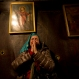 A Christian pilgrim prays inside the Grotto of the Church of Nativity, traditionally believed by Christians to be the birthplace of Jesus Christ, in the West Bank town of Bethlehem on Christmas Eve, Thursday, Dec. 24, 2015. (AP Photo/Majdi Mohammed)