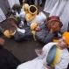 Muslim members of the Al-Hamdeya Al-Shazeleya Sufi order, chant prayers as they celebrate the birthday of the Prophet Muhammad known as Moulid Al-Nabi, in Cairo, Egypt, Wednesday, Dec. 23, 2015. (AP Photo/Belal Darder)