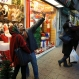 Iranian couples take selfies with Christmas items of a shop on Christmas Eve in central Tehran, Iran, Thursday, Dec. 24, 2015. Iran's population of 80 million includes about 120,000 Christians, mostly Armenian ethnicity. Iranian Christians have three representatives in the parliament and freely practice their religion as allowed under the constitution. (AP Photo/Vahid Salemi)