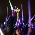 """Star Wars fans gather underneath the Space Needle on Saturday, Dec. 19, 2015, to wage a lightsaber battle in Seattle. The battle coincided with the opening weekend of """"Star Wars: The Force Awakens."""" (Sy Bean/The Seattle Times via AP)"""